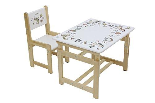 Polini Kids Kindersitzgruppe Eco 400 SM Unicorn aus Holz,3051-01
