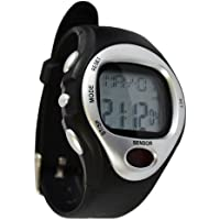 Fitness Sports Watch calorie pulse heart rate stop watch exercise - Silver