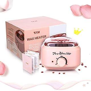 Wachswärmer Wachs Haarentfernung, Y.F.M Wachsmaschine für Männer und Frauen Haarentfernung, 500CC Wax Warmer Heater Waxing Kit Wachserhitzer, Wachsgerät geeignet für allen Arten von Wachsbohnen, Pink