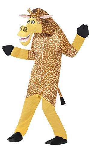 Smiffys Kinder Unisex Melman die Giraffe Kostüm, All-in-One mit gepolstertem Kopf, Madagascar, Größe: M, ()