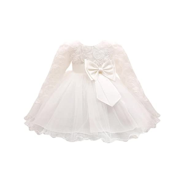 Wanshopw Girls Dresses, Wanshop® Flower Baby Girl Princess Bridesmaid Pageant Long Sleeve Princess Dress Gown Birthday Party Wedding Dress Formal Prom Ball Gown For 0-18 Months Girls
