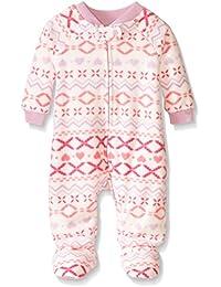 The Children's Place Little Girls and Toddler Fairisle Blanket Sleeper, Cloud/Fairisle, 4T