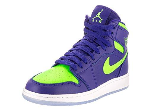 Jordan Calzado Nike Air 1 Retro Alta Bg Baloncesto 6 de EE.UU. Bebé niño Concord/Electric Green 6 M US Big Kid