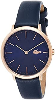 Lacoste Blue Womens Quartz Watch, Analog Display and Leather Strap 2000950