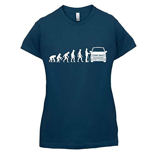 Evolution of Man VW T5 - Damen T-Shirt - 14 Farben Navy