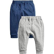 next Bebés Niños Paquete De 2 Pantalones De Chándal Joggers Azul Marino Y Gris (0 Meses-2 Años)