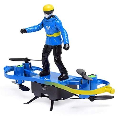 Ocamo Multifunktions-F5-Skateboard-Fallschirm-Drohnen-Quadcopter Blau