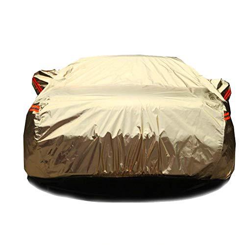 ERQINGCZ Wasserdichte Autoabdeckung Aluminium-Wasserdichte Autoabdeckungen Super Sonnenschutz Staub Regen Auto Abdeckung Voller Universal-Auto SUV Schutz Für Vw Toyota