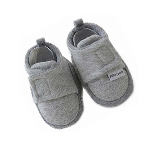 Set de 2 gray confortable coton Chaussures Newborn Chaussures bébé Toddler Semelles souples Shoes