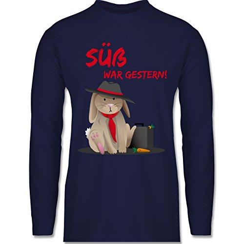 Statement Shirts - Mafia Häschen - Longsleeve / langärmeliges T-Shirt für Herren Navy Blau
