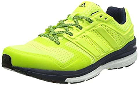 adidas , Herren Laufschuhe Gelb gelb, Gelb - Yellow (Solar Yellow/Solar Yellow/Collegiate Navy) - Größe, EU 40 (UK