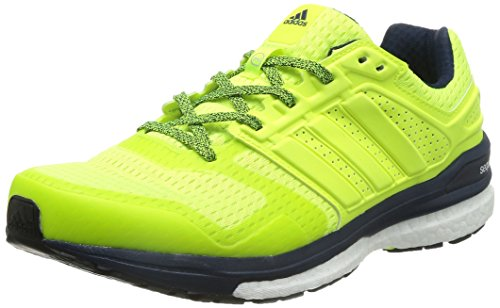 adidas Men's Supernova Sequence Boost 8 M Solar Yellow, Solar Yellow and Collegiate Navy Mesh Running Shoes - 7 UK  available at amazon for Rs.8399