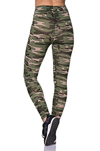 futuro Fashion femmes camouflage, Yoga, de course, séance d'entraînement, fitness taille haute armée Leggings imprimés fz128 Vert