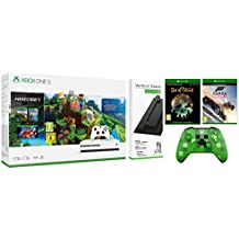 Xbox One S 1TB Console Minecraft Bundle Plus Vertical Stand/Forza Horizon 3/Sea of Thieves/Xbox Wireless Controller/Minecraft Creeper [Importación inglesa]