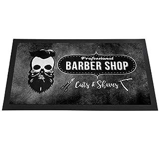 Artylicious Barber Shop Matte - Grunge Skull - Thekenleiste Läufer Schere Matte