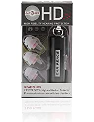 EarPeace HD Ear Plugs - High Fidelity Hearing Protection for Concerts & Music Professionals Clear Plugs, Black Case