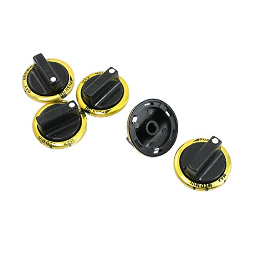 Ersetzen 8mm Loch Innen Dialogsteuerung Drehschalter 5 Stück für Gasherd (Bereich Elektro-backofen)