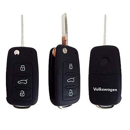 Auto-Fernbedienungsschutz-aus-Silikon-passend-fr-Volkswagen-VW-GolfPassatBora-New-Beetle-Scirocco-Jetta-Touran-Fox-Polo-Tiguan-Eos-Sharan-Touareg-Phateon-Caddy-T5-Amarok-Lupo-Seat-Altea-Alhambra-Leon-