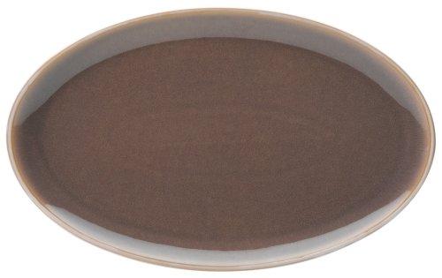 Denby Truffle Speiseteller mit breitem Rand Modern Oval Platter -