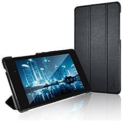 JETech J0530 Coque pour Nexus 7 2013 Etui, Housse Rabat à Fonction Réveil/Sommeil Automatique, Noir