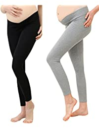 33a7b46b Foucome Under The Bump Maternity Leggings Cropped Comfortable Support Soft  Tights Pregnancy Wear Legging Trousers for