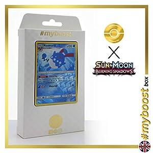 Azumarill 35/147 Holo Reverse - #myboost X Sun & Moon 3 Burning Shadows - Box de 10 cartas Pokémon Inglesas