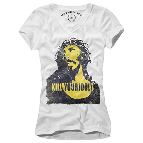 E1Syndicate Damen T-Shirt Vintage Kill Your Idols Guns N Roses AXL Rose
