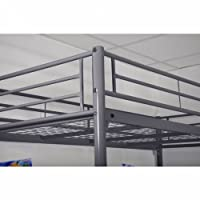 3-level Silver Metal Bunk Bed 90x 190cm
