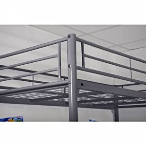 3-level Silver Metal Bunk Bed 90 x 190 cm