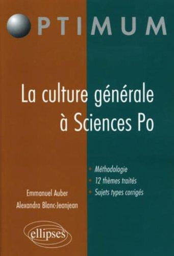 Epreuve culture générale à l'entrée de sciences PO
