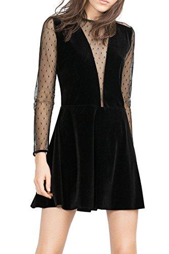 Zeagoo Damen Sexy Abschlusskleider Cocktailkleid Festliches Kleid mit Spitze