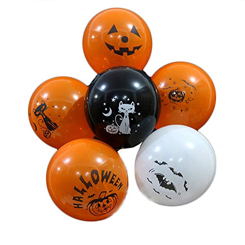 (Yalulu 50 Stück Happy Halloween Ballons Latex Luftballons für Halloween Designs Luftballonen Party Dekorationen)