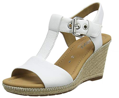 Gabor Shoes Comfort Sport, Sandali con Cinturino alla Caviglia Donna, Beige (Natur/Silk(Jute/N) 90), 42 EU