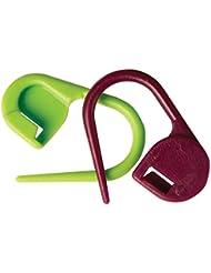 KnitPro - Marcador de punto para tejer (plástico, 30 unidades), color verde y rojo