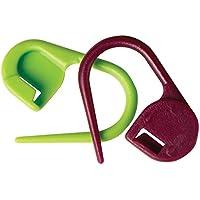 KnitPro 10805 verschließbare Maschenmarker Packung mit 30 Stück, Kunststoff, lila / grün, 11 x 5 x 1 cm