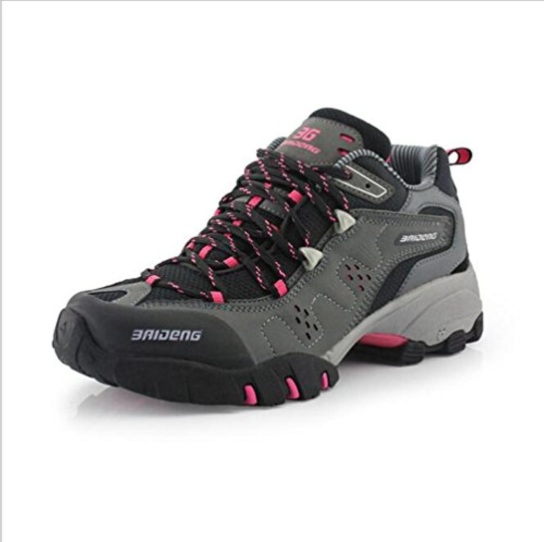 KANGLE Zapatillas de Senderismo para Mujer Zapatos de Deporte de Cuero Zapatos Al Aire Libre 40