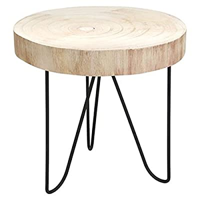 Dekotisch 29,5x29cm Beistelltisch Pflanzenhocker Holztisch Nachttisch Ablage