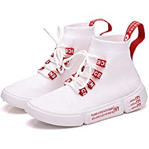 separation shoes 14839 28256 Lovelysi Mujers Moda Malla Calzado Atletismo Botas Retro Zapatillas de  Deportivo Sneakers Running Cordones Zapatos para
