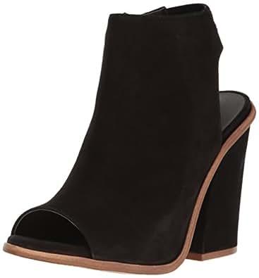 Steve Madden Women's Valencia Dress Sandal Black Nubuck 6 B(M) US