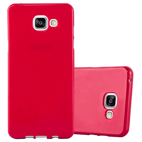 Cadorabo Custodia per Samsung Galaxy A5 2016 in Jelly Rosso - Morbida Cover Protettiva Sottile di Silicone TPU con Bordo Protezione - Ultra Slim Case Antiurto Gel Back Bumper Guscio