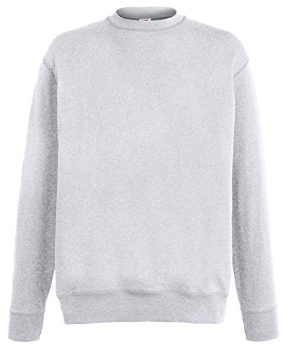 Fruit of the Loom Lightweight Set-in Sweatshirt - 14 Farben/Größe SML-2XL Heather Grey