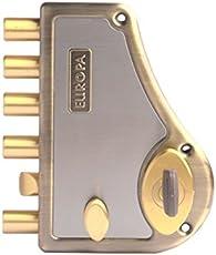 Europa Locks Antique Brass Hexabolt Main Door Lock, 18mm (H-640AB, Brown)