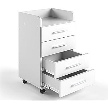 Rollcontainer metall weiß  Rollcontainer Metall weiß mit Schubladen | Rollschrank ...