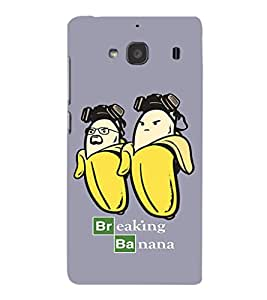 EPICCASE Breaking banana Mobile Back Case Cover For Mi Redmi 2 Prime (Designer Case)