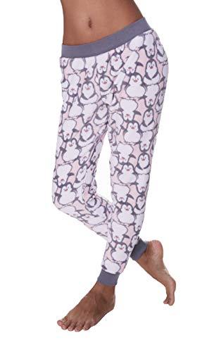 Sleep & Co. Damen Pyjamahose aus Plüsch Fleece - Mehrfarbig - Large -