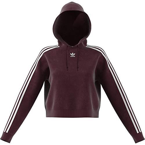 Anzug Mit Pullover - adidas Damen Cropped Sweatshirt, granatrot,