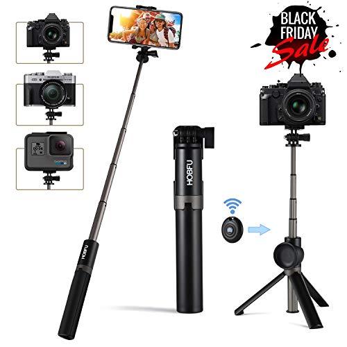 Baston selfie, selfie stick treppiede bluetooth con staccabile wireless remoto per iphone plus android samsung xiaomi 6 2.2-3.42 pollici schermo gopro action cameras10 in 1 mini tasca selfie
