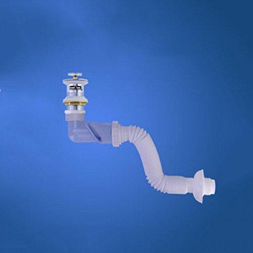 Tuyau MXJ61 Lavabo Crépine Déodorant Tuyaux d'eau Salle de Bain dans Le de vidange de Mur (Couleur : Flip-up)
