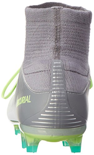 Nike Mercurial Veloce Iii Df Fg, Chaussures de Foot Homme Gris (Pure Platinum/Black-Ghost Green)