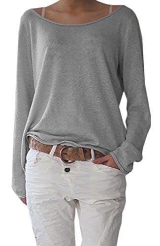 damen-rundhalsausschnitt-langarm-lose-bluse-strickpulli-hemd-shirt-oversize-sweatshirt-in-vielen-tre